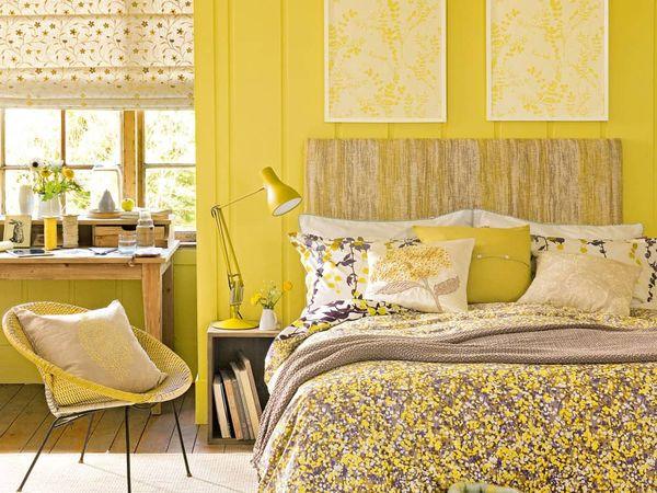 Galbenul in amenajarile si decoratiunile interioare